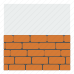 architecture, bricks, building, cement, construction, engineering, wall icon