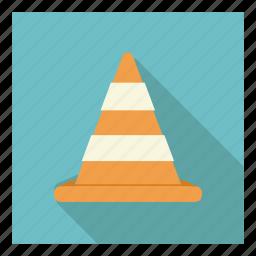 building, cone, construction, repair, site, under, work icon