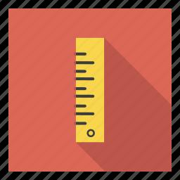 education, math, measure, measurement, ruler, school, student icon
