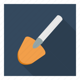 consrtuction, dig, equipment, masonry, mud, shovel, tool icon