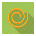 carpentry, equipment, measurement, spiral, tailor, tape, tool icon