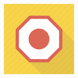 alert, attention, board, road, sign, stop, warning icon