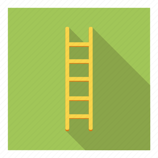 carpentry, construction, ladder, steps, tool, utility, wooden icon