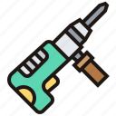 construction, drill, repair, rig, tool icon