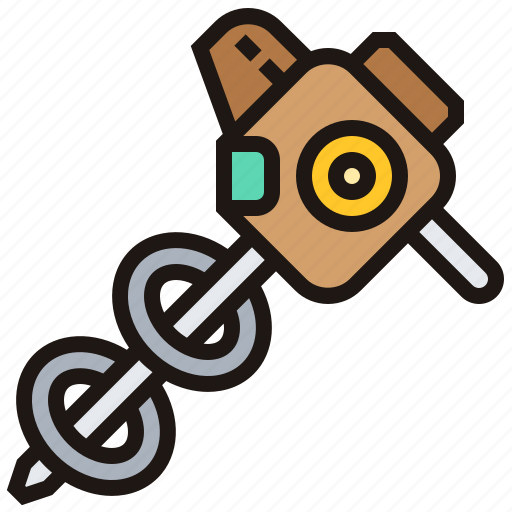 Construction, drill, ground, machine, tool icon - Download on Iconfinder