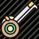 construction, measuring, repair, tape, tool icon