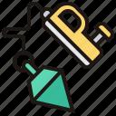 construction, measurement, plummet, repair, tool icon