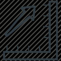 degree square, geometry, measure, ruler, set square icon