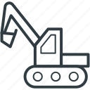 concrete bulldozer, construction crane, crane, lifter, vehicle icon