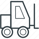 construction vehicle, golf car, golf cart, golf trolley, vehicle icon