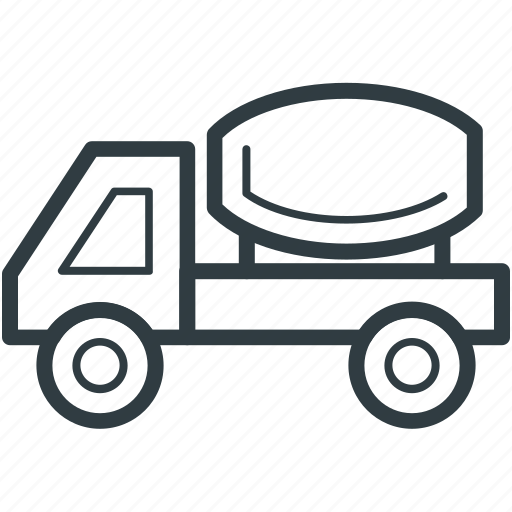 concrete, concrete truck, construction truck, truck, vehicle icon
