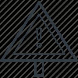 avoid, caution, danger, warning, warning sign icon