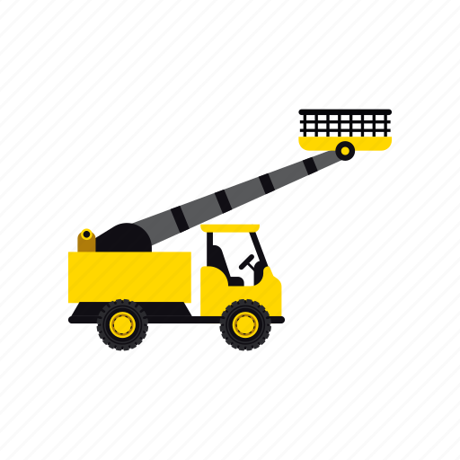 construction, crane, heavy, lifter, transportation, truck, vehicle icon