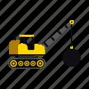ball, construction, heavy, transportation, truck, vehicle, wrecking