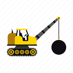 ball, construction, heavy, transportation, truck, vehicle, wrecking icon