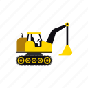 construction, excavator, heavy, soil, transportation, truck, vehicle icon