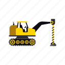 construction, digger, heavy, soil, transportation, truck, vehicle icon