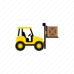 box, construction, forklift, heavy, transportation, vehicle, warehouse icon