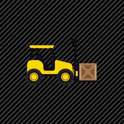 box, construction, forklift, heavy, transportation, vehicle, warehouse icon