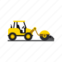 asphalt, construction, heavy, roller, transportation, truck, vehicle icon