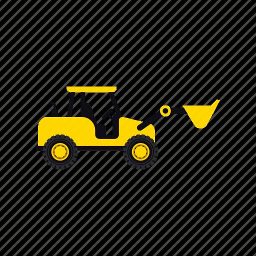 construction, excavator, heavy, soil, transportation, truck, vehicle icon