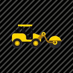 asphalt, construction, heavy, roller, transportation, truck, vehicle icon