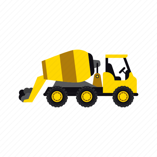 cement, construction, heavy, mixer, transportation, truck, vehicle icon