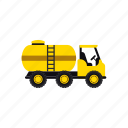 construction, fire fighter, heavy, transportation, truck, vehicle, water icon