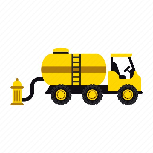 construction, fire fighter, hydrant, transportation, truck, vehicle, water icon