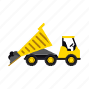 construction, dump, heavy, soil, transportation, truck, vehicle icon