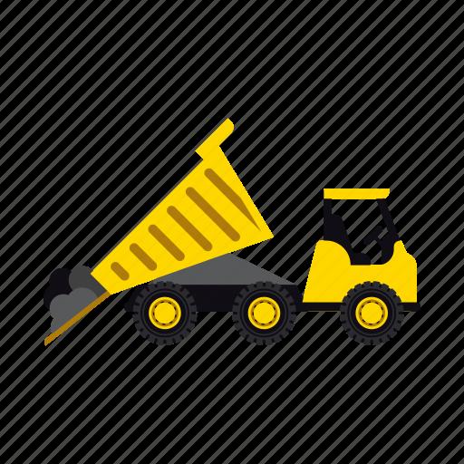construction, dump, heavy, soil, transportation, truck, vehicle icon