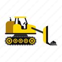 bulldozer, construction, heavy, loader, transportation, truck, vehicle icon