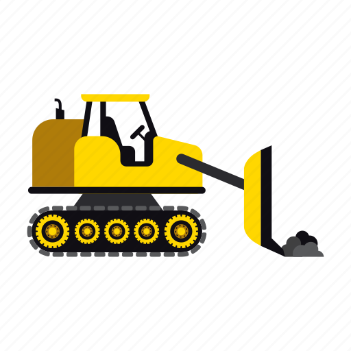 bulldozer, construction, heavy, loader, transportation, truck, vehicle icon