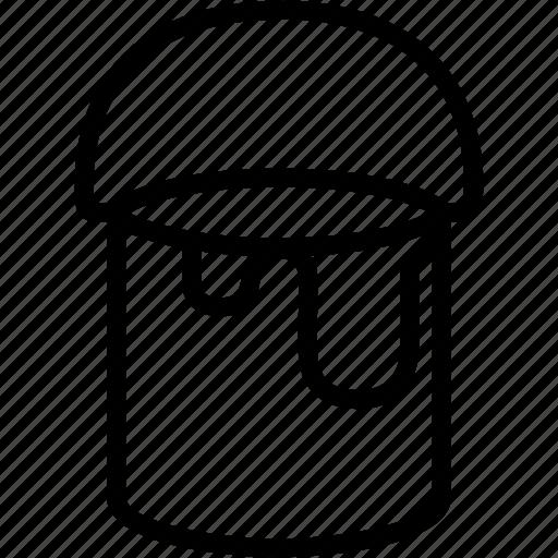 brush, bucket, design, paint, painting icon