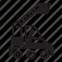 crane, equipment, repair, truck, vehicle