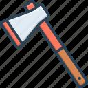 adze, axe, calibrating, chopper, hatchet, mattock, weapon