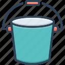 appliance, bath, bucket, container, pail, plastic