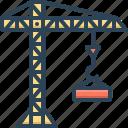 architecture, building, constructing, crane, harbor, tower