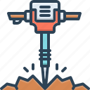 breaker, demolishing, dig, drilling, heavy, jackhammer, tool