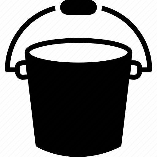 appliance, bath, bucket, container, pail, plastic icon