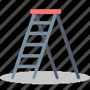 building, construction, equipment, ladder, repair, stepladder icon