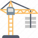 architecture, building, construction, crane, house, tower, work icon