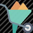 building, cart, construction, sand, tool, wheelbarrow, work icon