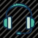 headset, headphone, audio, music