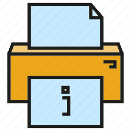 document, office, printer icon