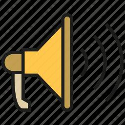 announce, communication, megaphone, sound, voice icon