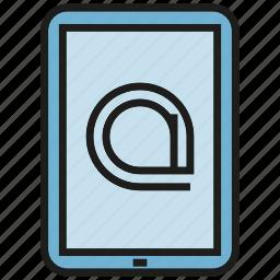 address, communication, mobile, phone icon