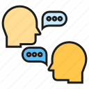 chat, communication, head, speak, talk icon