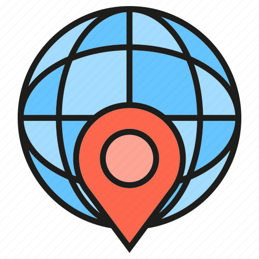 Globe, gps, location, pin, world icon - Download on Iconfinder