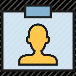 business card, id card, people, profile icon